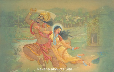Sita is abducted by Ravana