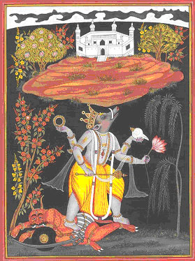 The ten incarnations of Vishnu