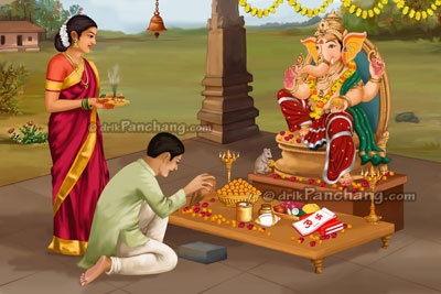 Ganesh Chaturthi Puja Procedure in English (Ganesh Pooja)
